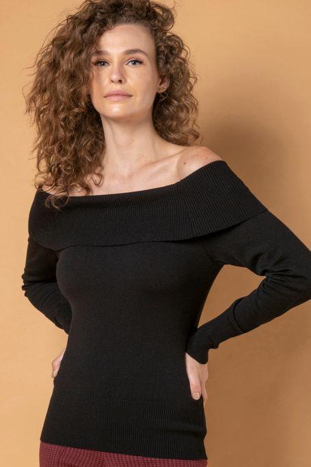 Blusa Tricô Obro a Ombro | Bi336