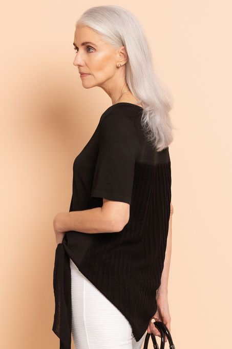 Blusa Tricô Plissado | Bv1035