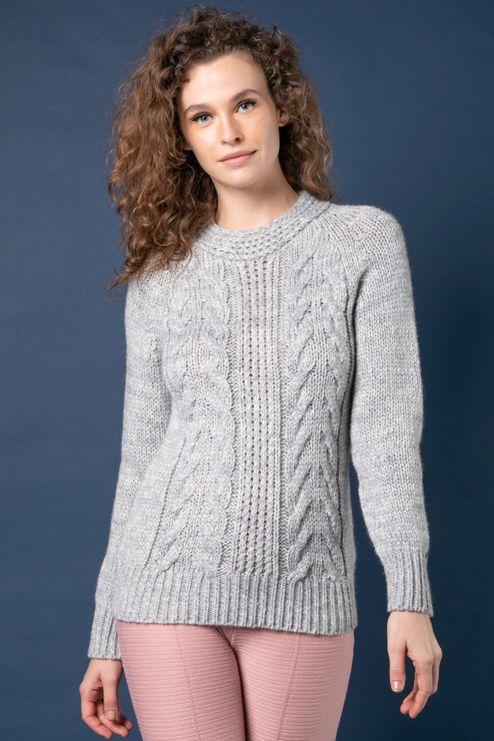 Blusão Alpaca Tricô Tranças | Bi391
