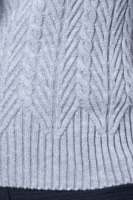 Blusão Tricô Tranças Gola Alta | Bi402