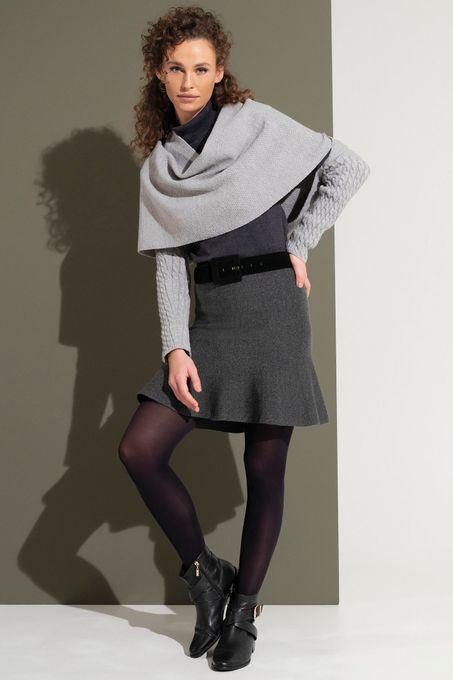 Saia Peplum Jacquard Tweed | Sv066