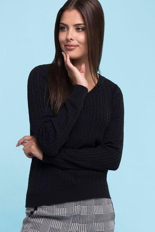 Sweater V Tranças