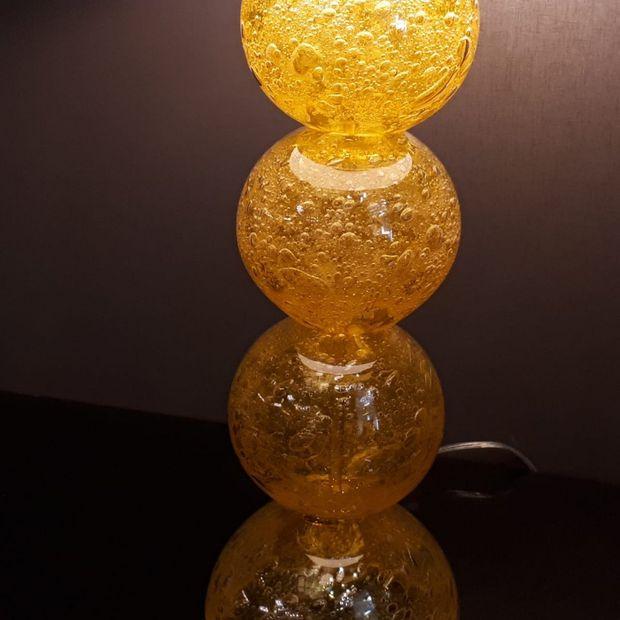 Abajur de Murano Amarelo