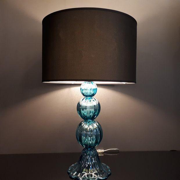 Abajur de Murano Azul