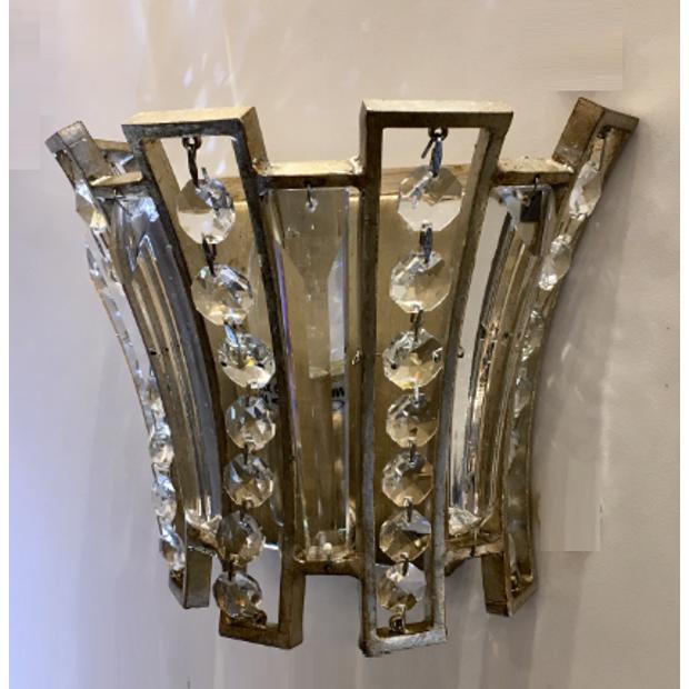 Arandela de Cristal em Metal