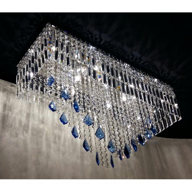 Luminária Cristal Bacalhau Azul