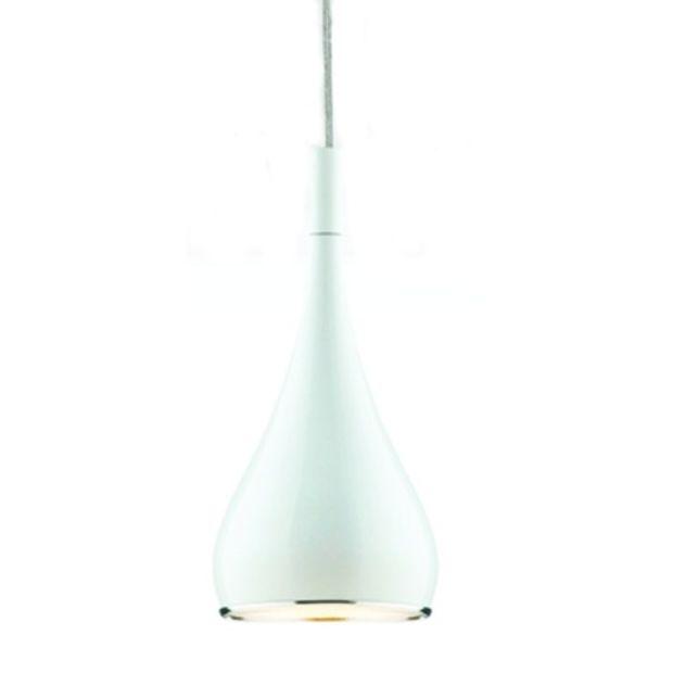 Luminária Pendente de Metal Branco