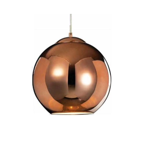 Luminária Pendente Esfera de Cobre 35Cm D