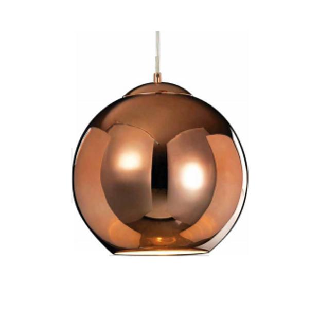 Luminária Pendente Esfera de Cobre 40Cm D