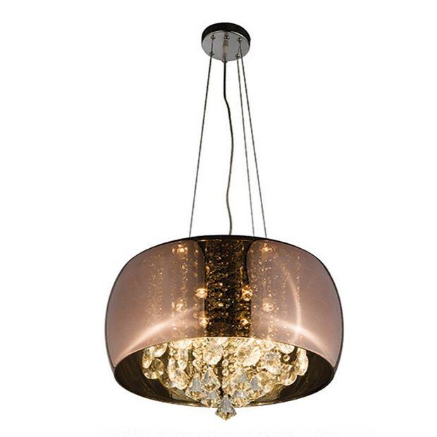 Luminária Pendente/plafon Aglaia Cobre com Cristais Translúcidos
