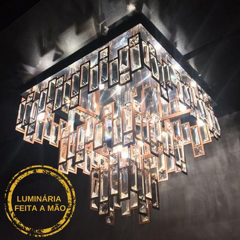 Luminária Plafon Livia em Cobre