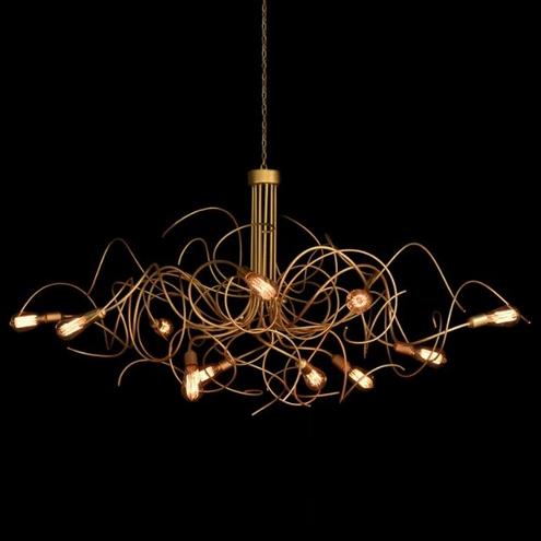 Luminária Salice 110Cm Diâmetro - Dourada