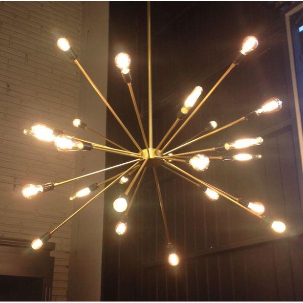 Luminária Sputnik Dourado