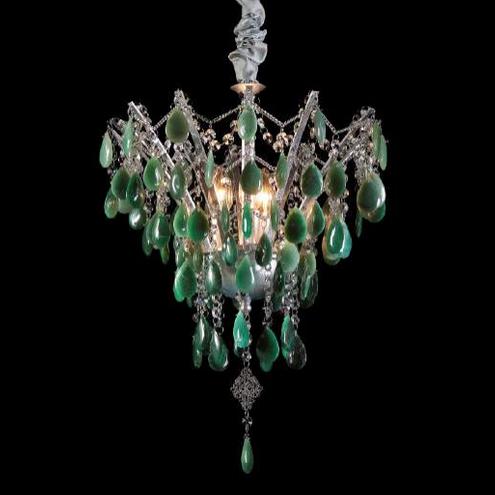 Lustre Esmeralda Pedra Rocha Verde