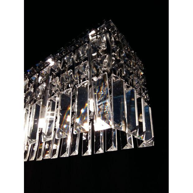 Pendente Cromo Slim Crystal
