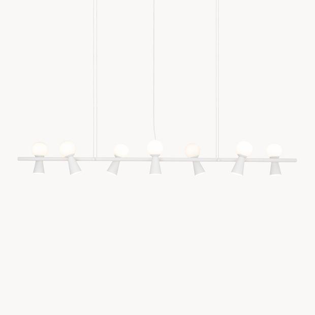 Pendente Pivô 7 - Branco