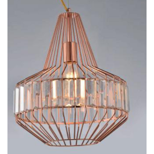 Pendente Rose Gold Design Cristais Âmbar B