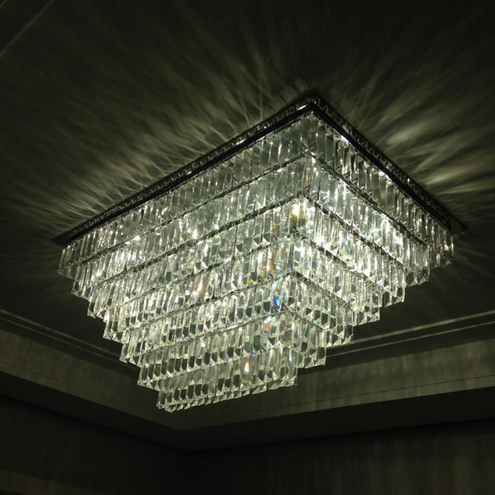 Plafon Retangular de Cristais Luxury