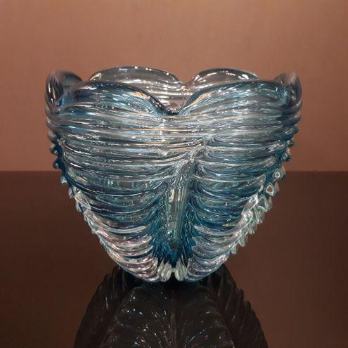 Vaso Decorativo em Murano Azul
