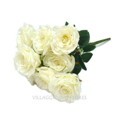 Buque de Dalias e Rosa Branco