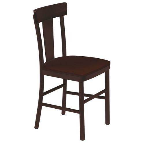 Cadeira Adele sem Braços Tabaco com Estofado Café Viena Tram