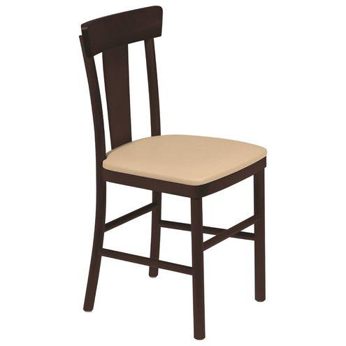 Cadeira Adele sem Braçostabaco com Estofado Bege Viena Tramo