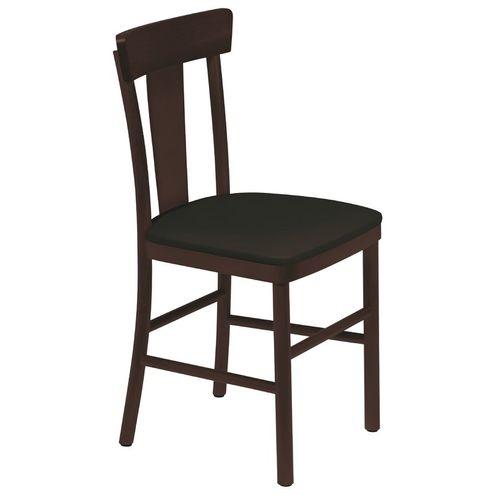 Cadeira Danúbio sem Braços Tabaco com Estofado Preto Viena t