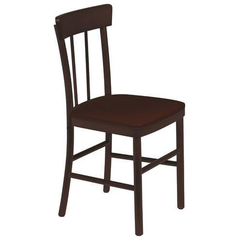 Cadeira Danúbio Tabaco sem Braços com Estofado Café Viena tr