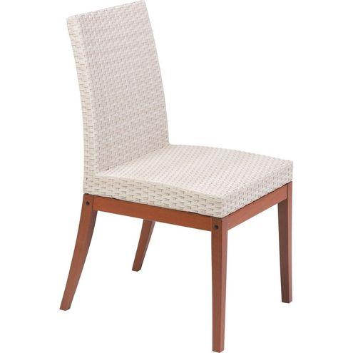 Cadeira Fibra Bege com Eco Blindagem Terrazo Fibra