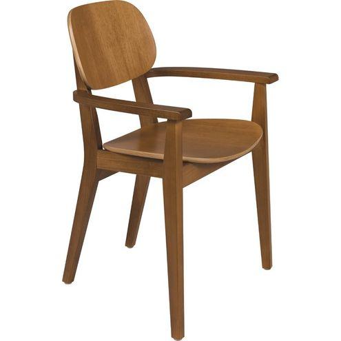 Cadeira Piazza com Braços Amendoa