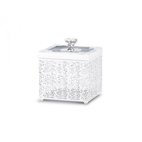 Caixa Branca Rendada 11x11x13cm