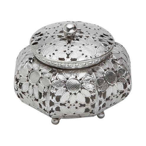 Caixa de Ferro Niquelado 16 x 12 cm