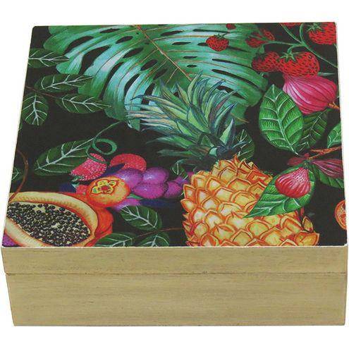 Caixa Organizadora Tropical Estampado
