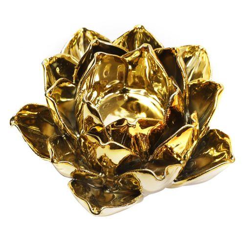Castiçal de Flor Dourada