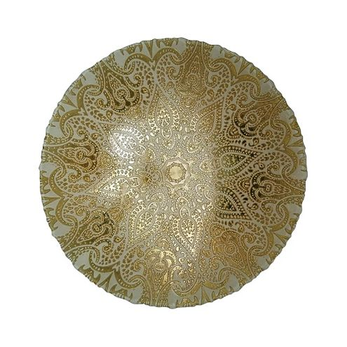 Centro de Mesa Vidro Istambul Gold 33X33X9cm