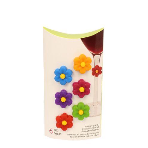 Conjunto 6 Marcadores de Taça Linha Flor