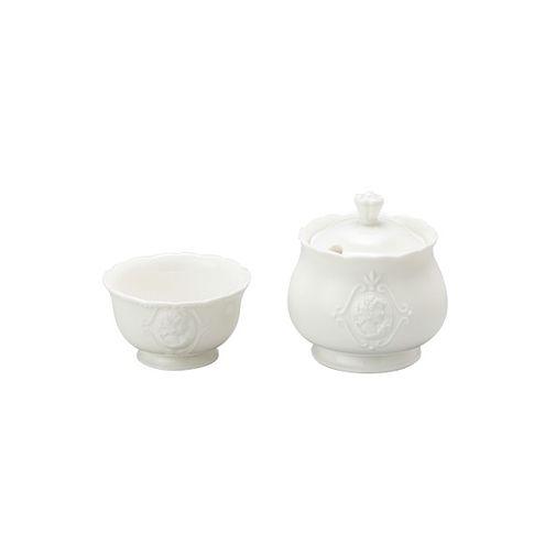 Conjunto Açucareiro e Porta Adoçante de Porcelana