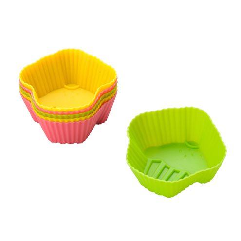 Conj 6 Formas para Cupcake 8cm Colorida
