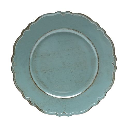 Conjunto 6 Sousplat Verde 33cm Moon Plastico