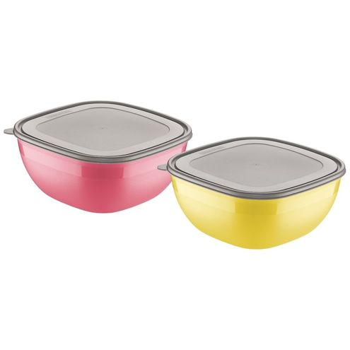 Conjunto de Potes Amarelo/rosa 4,0 Litros 2 Peças Mixcolor t