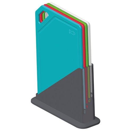 Conjunto de Tábuas de Corte com Suporte 5 Peças Mixcolor Tra