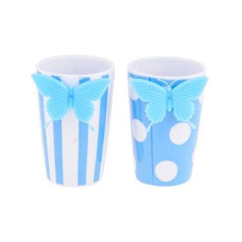 Copo Borboleta Listra/Poa Azul Trevisan