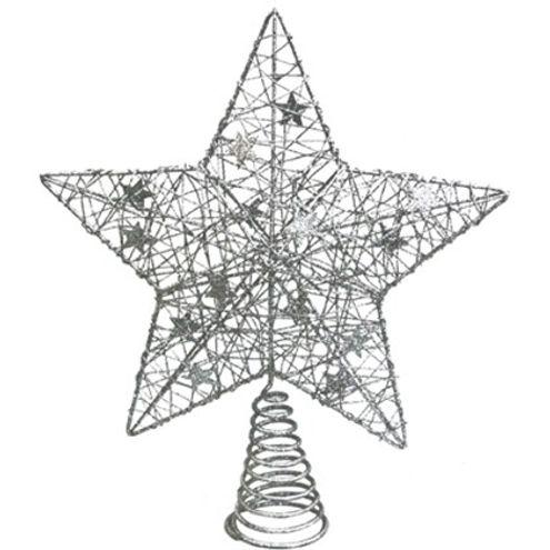 Estrela Prata 30 cm
