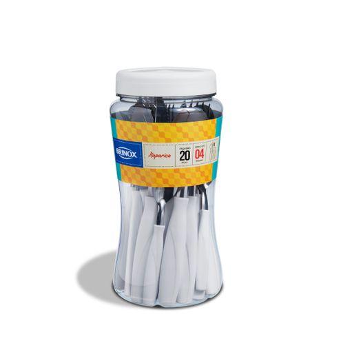 Faqueiro Itaparica 20 Pcs - Branco Brinox