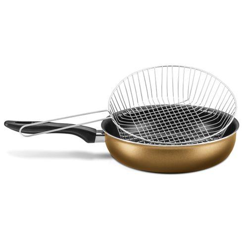 Fritadeira com Cesto de Metal 24cm Gold MTA