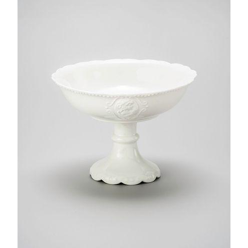 Fruteira com pe Porcelana 21,3cm Super White