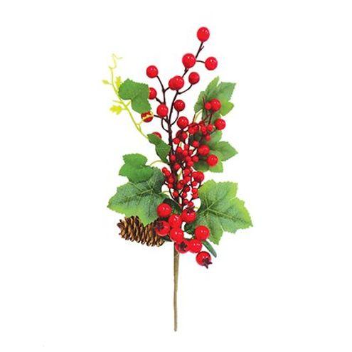 Galho Frutas Vermelho 30 cm