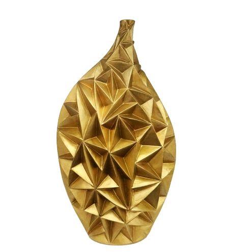 Garrafa Beta Triangulo 28x46cm Dourada