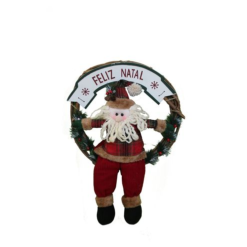 Coroa Papai Noel 35 cm