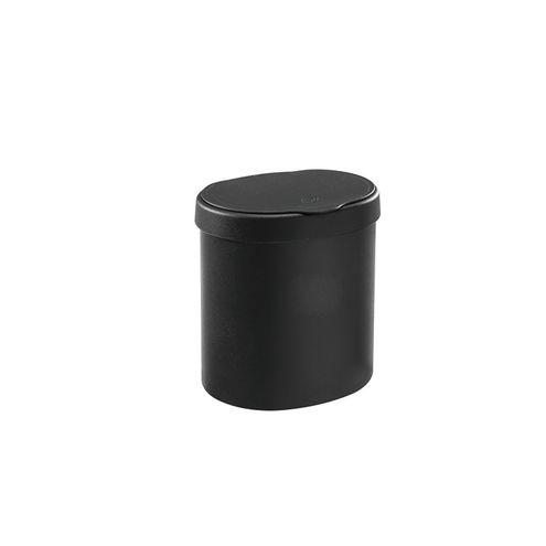 Lixeira 2,5 L Basic 17,5 x 15 x 18,2 cm - Preto Coza
